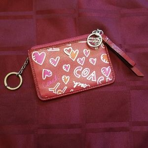 New Coach Poppy Card & Key Holder Wallet